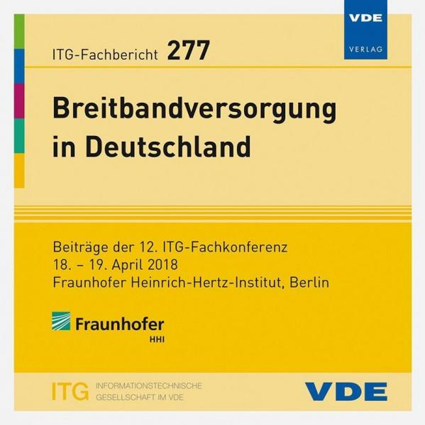 ITG-Fb. 277: Breitbandversorgung in Deutschland
