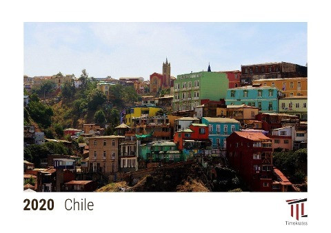 Chile 2020 - Timokrates desk calendar with UK holidays / picture calendar / photo calendar - DIN A5