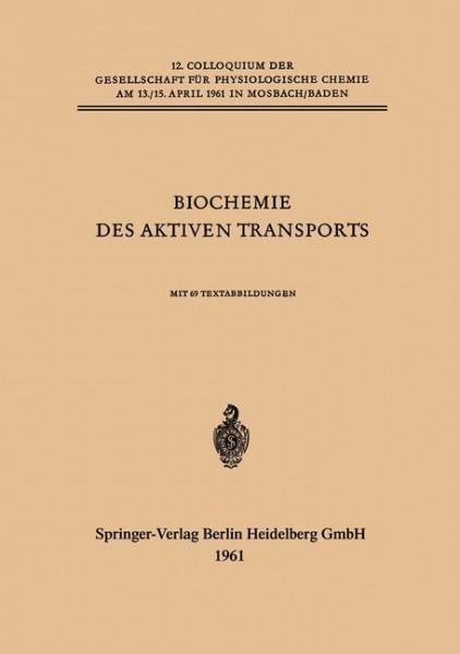 Biochemie des Aktiven Transports