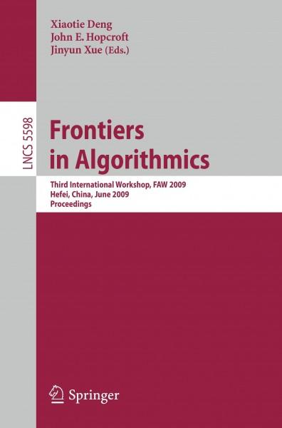 Frontiers in Algorithmics