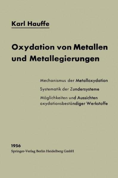 Oxydation von Metallen und Metallegierungen