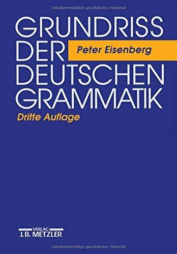 Grundriß der deutschen Grammatik