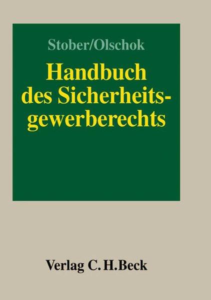 Handbuch des Sicherheitsgewerberechts