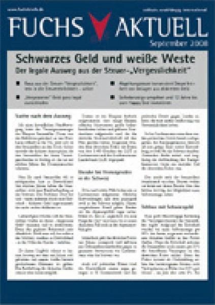 Redaktion Fuchsbriefe: Schwarzes Geld & weiße Weste