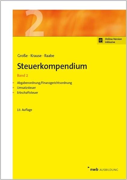 Steuerkompendium, Band 2