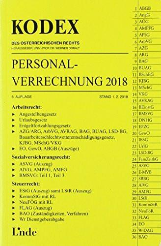 KODEX Personalverrechnung 2018 (Kodex des Österreichischen Rechts)
