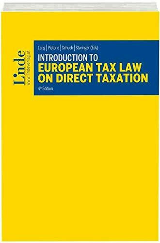 Introduction to European Tax Law on Direct Taxation (Linde Lehrbuch)