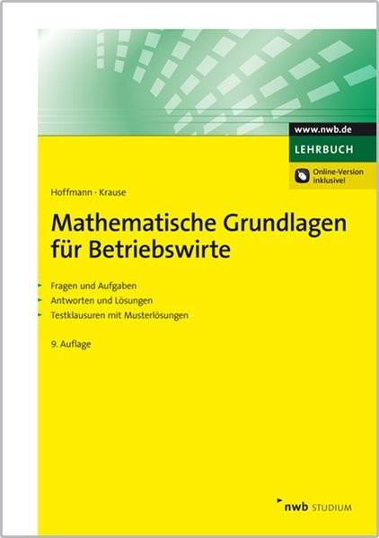 Mathematische Grundlagen für Betriebswirte