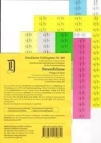 SteuerErlasse Griffregister Nr. 869 (2017): 160 selbstklebende und farbig bedruckte Griffregister für die SteuerErlasse