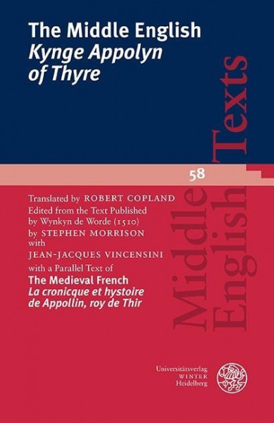 The Middle English 'Kynge Appolyn of Thyre'