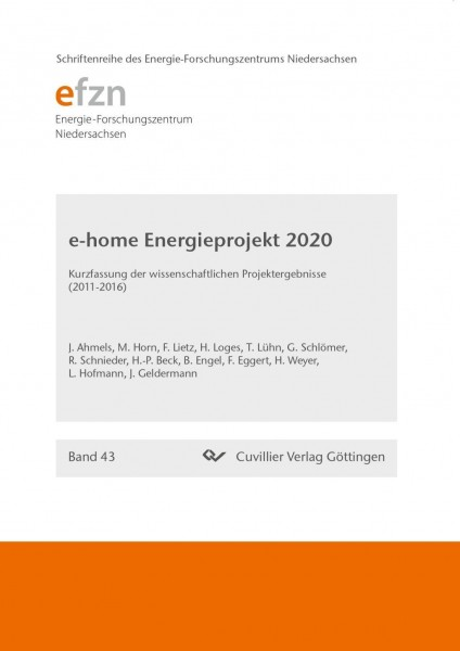 Forschungsprojekt e-home Energieprojekt 2020
