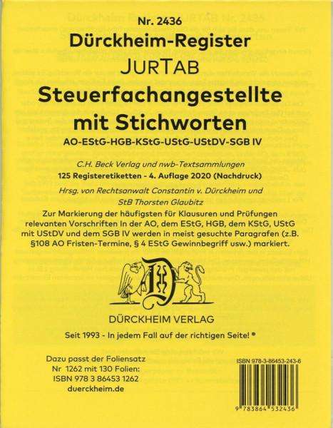 DürckheimRegister® STEUERFACHANGESTELLTE mit Stichworten (2020)
