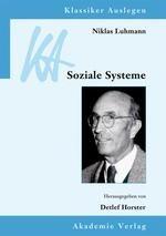 Niklas Luhmann: Soziale Systeme
