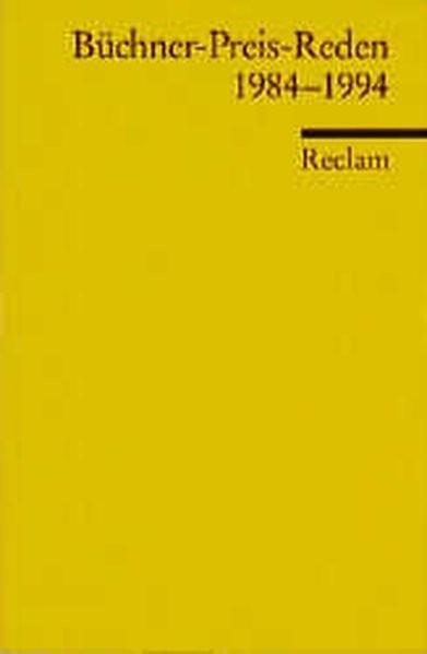 Büchner-Preis-Reden 1984-1994