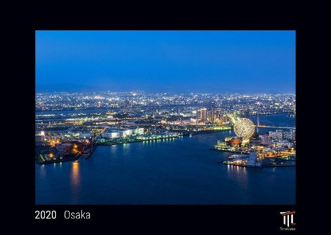 Osaka 2020 - Black Edition - Timokrates Kalender, Wandkalender, Bildkalender - DIN A3 (42 x 30 cm)