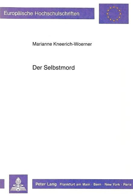 Der Selbstmord - Kneerich-Woerner, Marianne