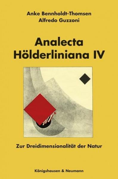 Analecta Hölderliniana IV