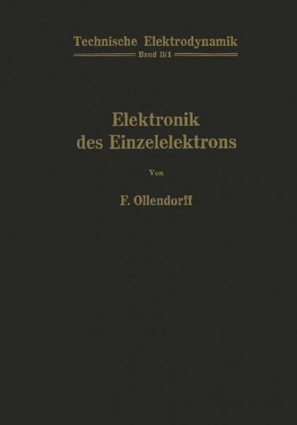 Innere Elektronik Erster Teil Elektronik des Einzelelektrons