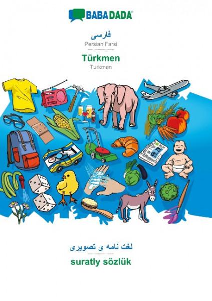 BABADADA, Persian Farsi (in arabic script) - Türkmen, visual dictionary (in arabic script) - suratly