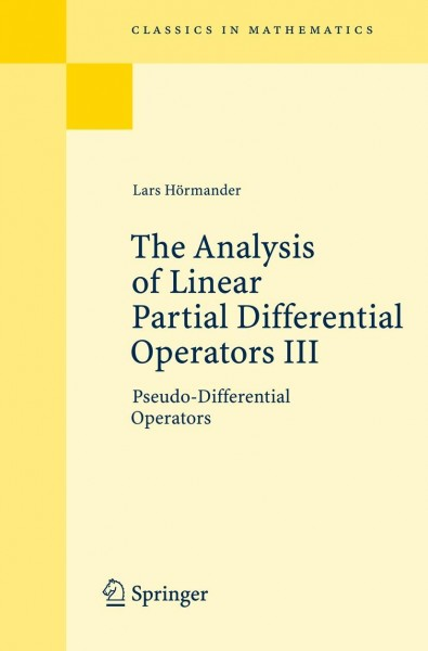 The Analysis of Linear Partial Differential Operators 3