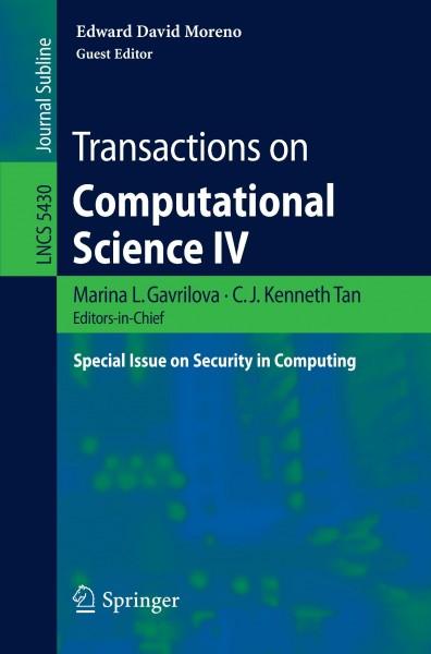 Transactions on Computational Science IV