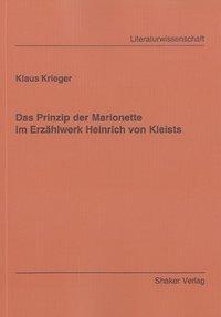 Das Prinzip der Marionette im Erzählwerk Heinrich von Kleists