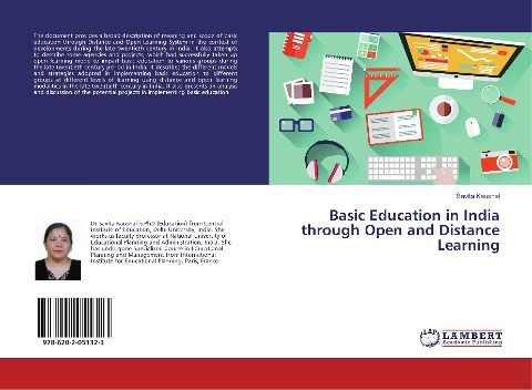 Basic Education in India through Open and Distance Learning