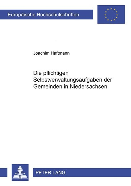 Die pflichtigen Selbstverwaltungsaufgaben der Gemeinden in Niedersachsen