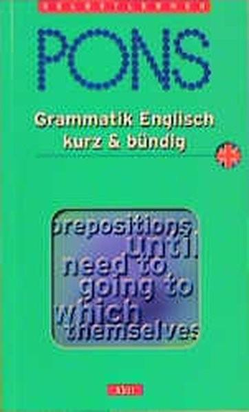 PONS Grammatik kurz & bündig, Englisch