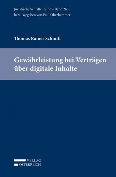 Gewährleistung bei Verträgen über digitale Inhalte