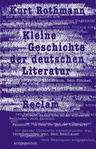 Kleine Geschichte der deutschen Literatur (UB, 9906)