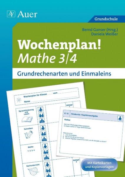 Wochenplan Mathe 3/4, Grundrechenarten und 1x1