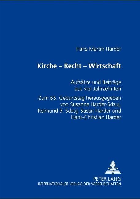 Kirche - Recht - Wirtschaft - Harder, Hans-Martin