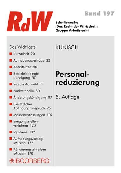 Personalreduzierung (Schriftenreihe RdW)