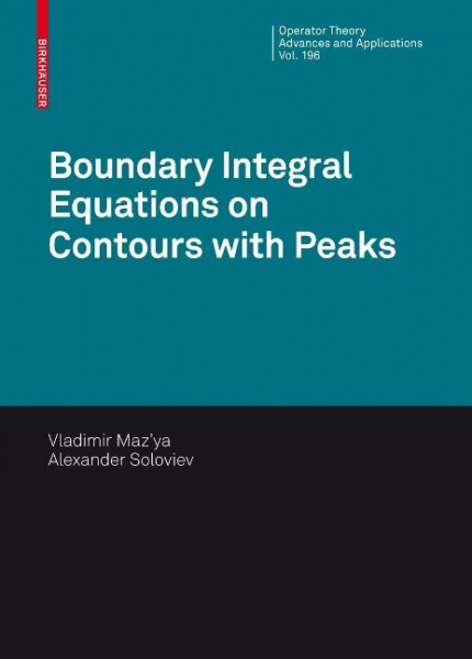 Boundary Integral Equations on Contours with Peaks