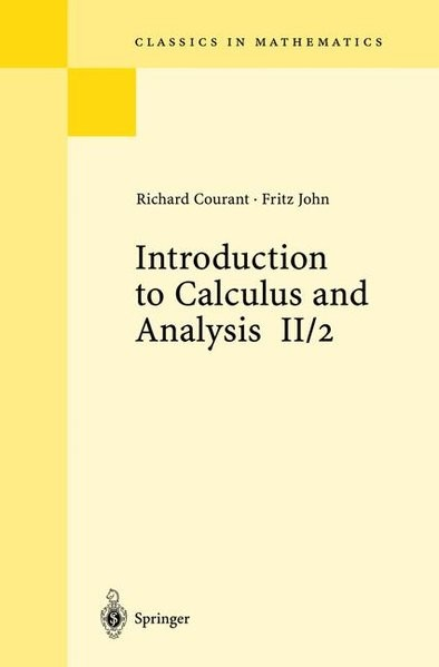 Introduction to Calculus and Analysis Volume II/2