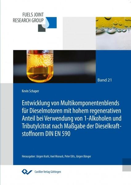 Entwicklung von Multikomponentenblends für Dieselmotoren mit hohem regenerativen Anteil bei Verwendung von 1-Alkoholen und Tributylcitrat nach Maßgabe der Dieselkraftstoffnorm DIN EN 590