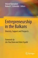 Entrepreneurship in the Balkans