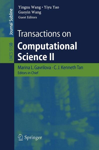 Transactions on Computational Science II