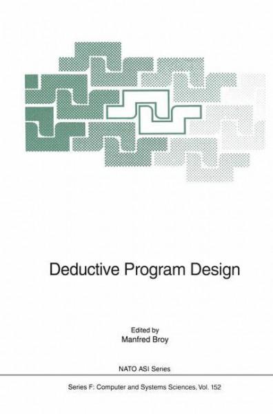 Deductive Program Design