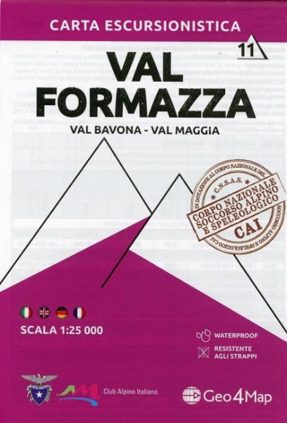 Wanderkarte Val Formazza / Val Bavona-Val Maggia 1:25.000