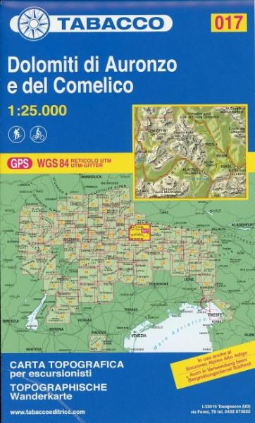 Tabacco Wandern 1 : 25 000 Dolimiti di Auronzo e del Comelico