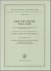Der deutsche Malagis nach den Heidelberger Handschriften Cpg 340 und 315
