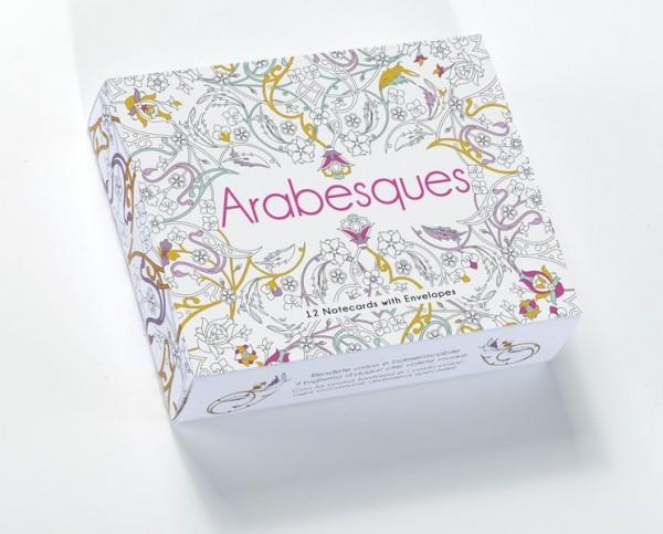 Arabesques: 12 Grußkarten mit 12 Umschlägen (Notecards)