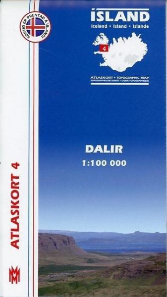 Island Atlaskort 04 Dalir 1 : 100 000
