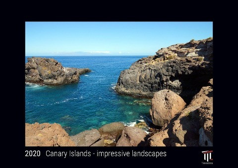 Canary Islands - impressive landscapes 2020 - Black Edition - Timocrates wall calendar with UK holi