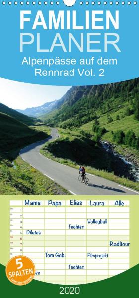 Alpenpässe auf dem Rennrad Vol. 2 - Familienplaner hoch (Wandkalender 2020 , 21 cm x 45 cm, hoch)
