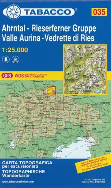 Tabacco Wandern Ahrntal - Riesenferner Gruppe 1:25 000