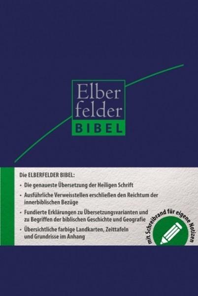 Elberfelder Bibel 2006 Schreibrandbibel Kunstleder blau