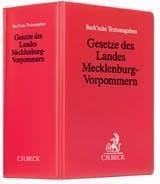 Gesetze des Landes Mecklenburg-Vorpommern (ohne Fortsetzungsnotierung). Inkl. 71. Ergänzungslieferung